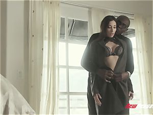 hotwife Clea Gaultier plumbing big black cock While hubby observes