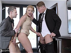 super hot blond by her spouse and another guy