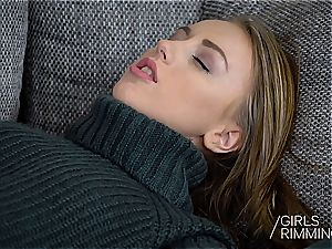 GIRLSRIMMING - Kira Thorn Russian nubile give Rimjob