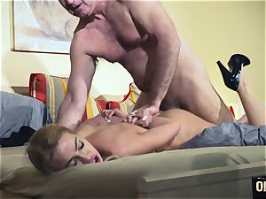 aged guy predominated super-sexy steamy stunner aged youthful female dom rigid