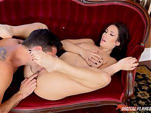 dark-haired hotty Eva Lovia hammered deep with man meat