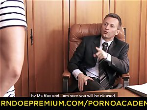 porn ACADEMIE - Lusty assistant anal invasion 3 way intercourse