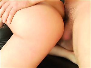 Bailey Blue takes this rock hard pecker deep in her scorching booty