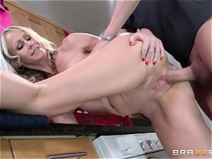 Mean mommy Simone Sonay gets drilled by daughters-in-law stud