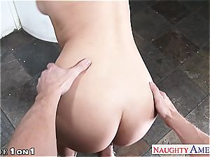slim big-boobed housewife Natalia Starr take man-meat in point of view
