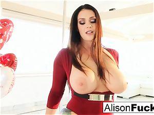 Alison Tyler celebrates Valentine's Day by jerking