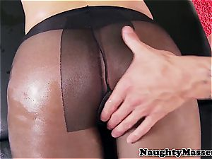 buxom gal lubricated up before excellent buttfuck hump